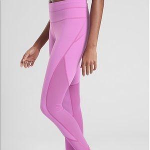 Athleta Affirmation 7/8 Tights Dark Violet Blush